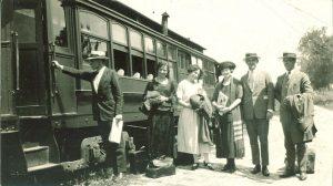 boarding a train